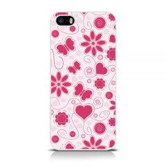 Call Candy iPhone 5 / 5S / SE Harte Hülle -  Blumen Blumenmädchen