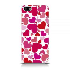 Call Candy iPhone 5 / 5S / SE Harte Hülle - Liebesherzen