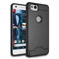 Google Pixel 2 Armour Kickstand Case - Black