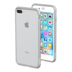 ThanoTech K11 iPhone 8 Plus/7 Plus Aluminium Stoßfänger Hülle - Silber