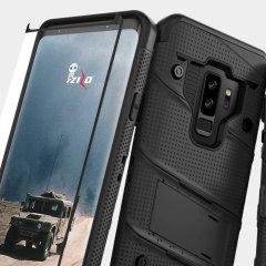 Zizo Bolt Series Galaxy S9 Plus Tough Case Hülle & Gürtelclip -Schwarz