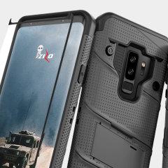 Zizo Bolt Series Galaxy S9 Plus Tough Case Hülle & Gürtelclip - Grau