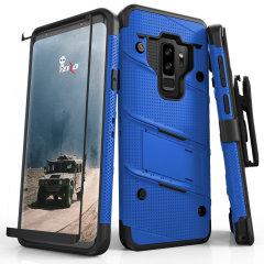 Zizo Bolt Series Galaxy S9 Plus Tough Case Hülle & Gürtelclip -Blau