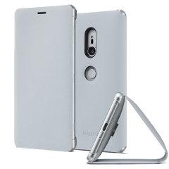Original Sony Xperia XZ2 Style Cover Stand Tasche in Grau