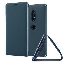 Original Sony Xperia XZ2 Style Cover Stand Tasche in Grün