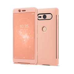 Original Sony Xperia XZ2 Compact Style Tasche Touch Case in Rosa