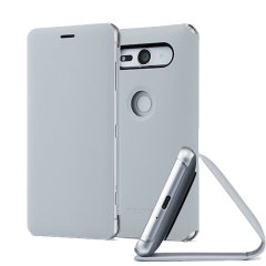 Original Sony Xperia XZ2 Compact Style Cover Stand Tasche - Graun