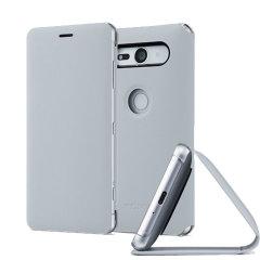 Original Sony Xperia XZ2 Compact Style Cover Stand Tasche - Graun