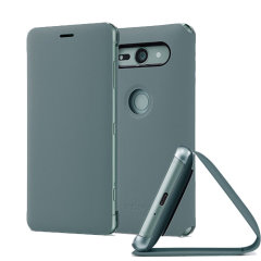 Original Sony Xperia XZ2 Compact Style Cover Stand Tasche - Grün