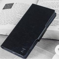 Olixar Leder Stil Xperia XZ2 kompakte Geldbörse Standhülle - Schwarz