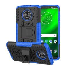 Olixar ArmourDillo Motorola Moto G6 Plus Hülle in Blau