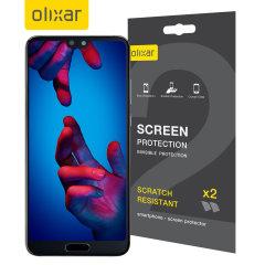 Olixar Huawei P20 Displayschutz 2-in-1 Pack