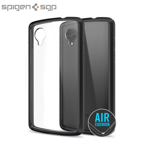 Spigen sgp ultra hybrid for google nexus 5 black for Spigen nexus 5 template