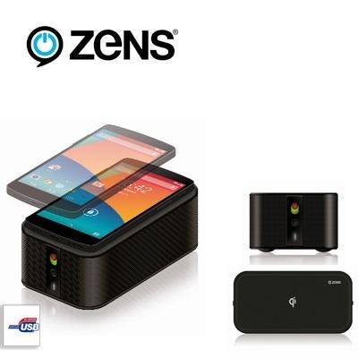 zens bluetooth speaker and qi wireless charger mobilezap australia. Black Bedroom Furniture Sets. Home Design Ideas