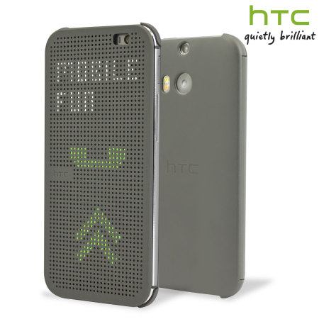 Official HTC One M8 / M8s Dot View Case - Grey ...