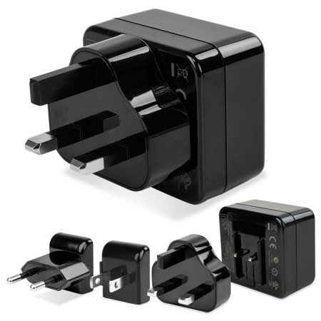 the front, kensington 4 2a dual usb travel mains charger more