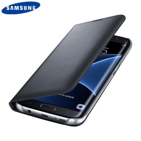 official samsung galaxy s7 edge flip wallet cover black mobilezap australia. Black Bedroom Furniture Sets. Home Design Ideas