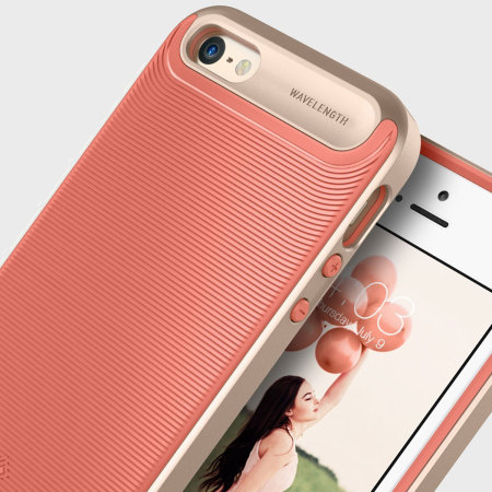 caseology wavelength series iphone se case pink gold Place