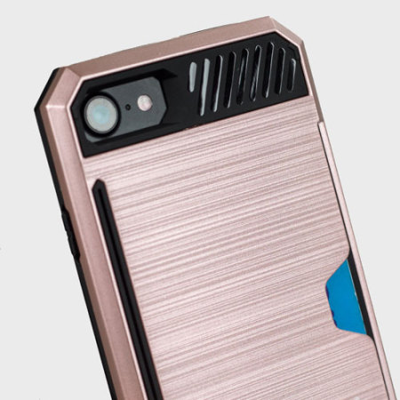 quell zizo metallic hybrid card slot iphone 7 case rose gold Stock Available Waitlist