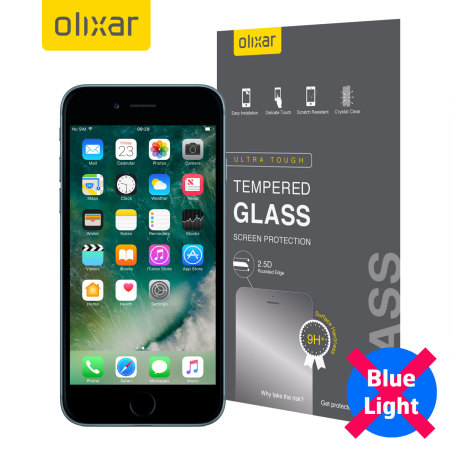 month olixar iphone 7 anti blue light tempered glass screen protector are available