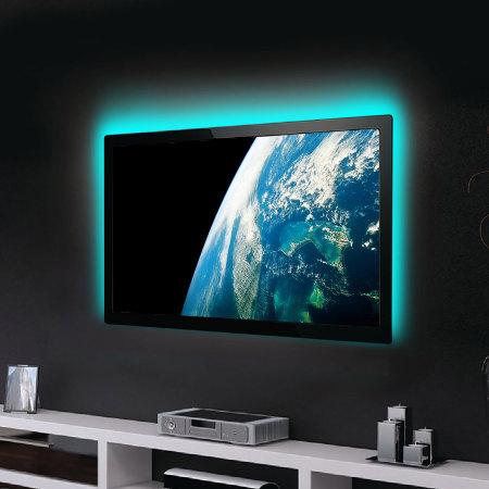 100cm led streifen usb tv hintergrundbeleuchtung beleuchtung kit agl colour changing. Black Bedroom Furniture Sets. Home Design Ideas