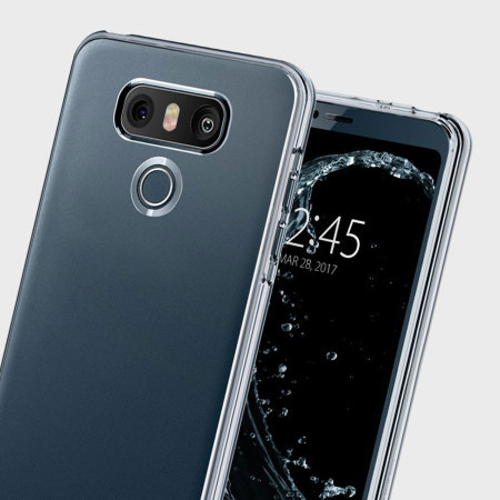 have added spigen liquid crystal lg g6 shell case clear