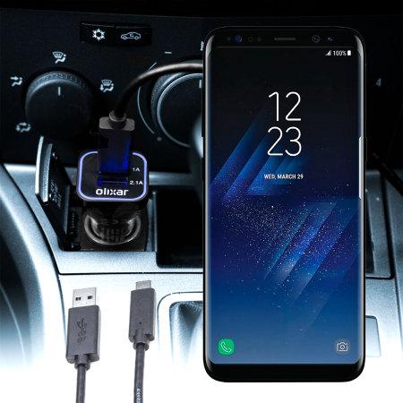 samsung s8 plus. olixar high power samsung galaxy s8 plus car charger