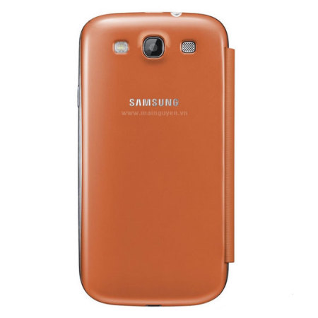 genuine samsung galaxy s flip cover orange efc gfoecstd