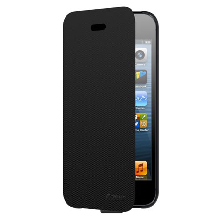 zens qi wireless charging case for iphone 5s 5 black. Black Bedroom Furniture Sets. Home Design Ideas