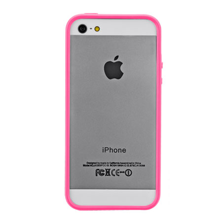 pink iphone 5s mate hula bumper for iphone 5s 5 pink mobilezap 12776