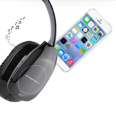 supertooth freedom stereo bluetooth headphones black reviews mobilezap australia. Black Bedroom Furniture Sets. Home Design Ideas