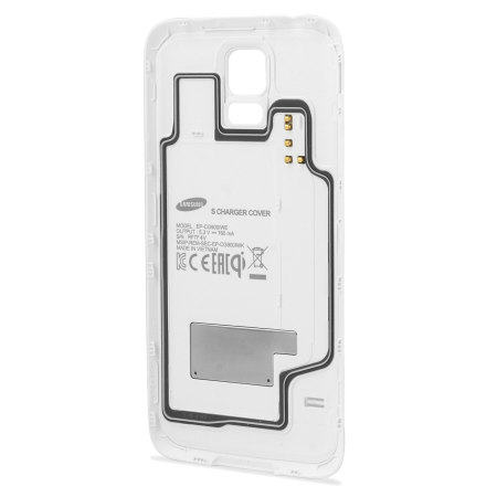 44078 Official Samsung Galaxy S5 Qi Wireless Charging Cover White