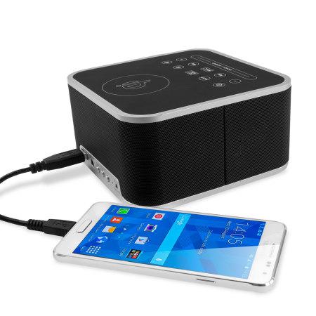 olixar qi tone s1 alarm clock bluetooth speaker with qi charging mobilezap australia. Black Bedroom Furniture Sets. Home Design Ideas