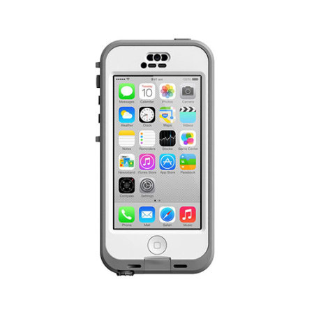 lifeproof case for iphone 5c lifeproof nuud iphone 5c white grey mobilezap 2993