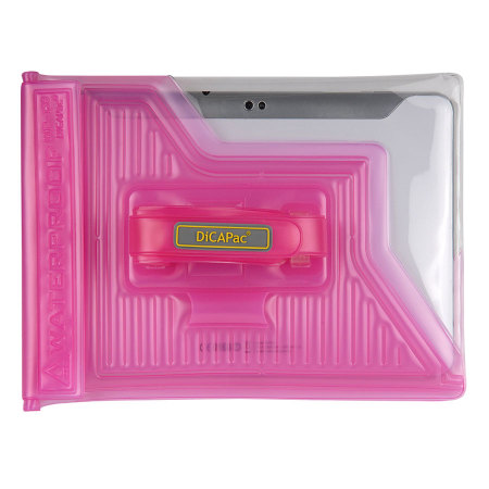 dicapac universal waterproof case for tablets up to 8 pink
