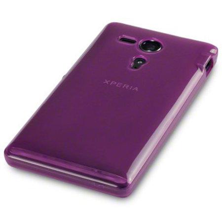 flexishield sony xperia e case purple