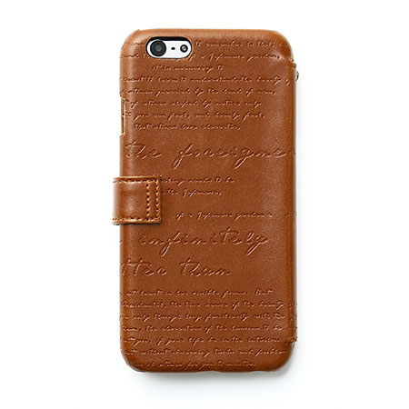 comes with zenus lettering diary iphone 6s 6 case brown pro