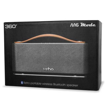 veho m6 360 mode retro bluetooth lautsprecher mobilefun sterreich. Black Bedroom Furniture Sets. Home Design Ideas