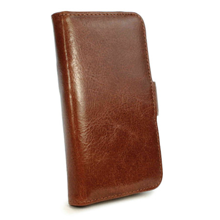 tuff luv iphone 6s 6 vintage leather wallet case with rfid brown what