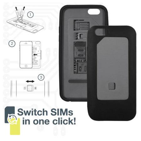 thumbsup iphone 6 dual sim case black mobilezap. Black Bedroom Furniture Sets. Home Design Ideas