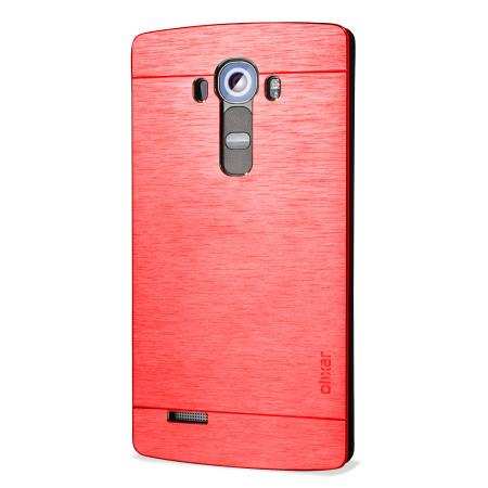 four days ago, olixar aluminium lg g4 shell case red the