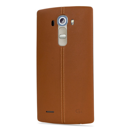 LG G4 Brown Leather Replacement Back Cover MobileZap