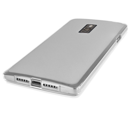 Data flexishield oneplus one case frost white smooth, rounded