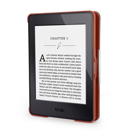 olixar kindle paperwhite case tasche in braun mobilefun. Black Bedroom Furniture Sets. Home Design Ideas