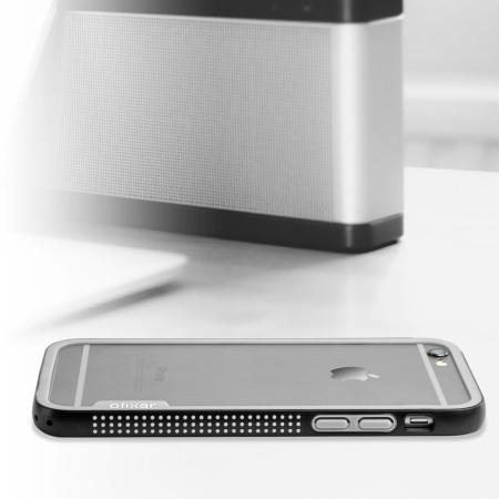phone has removable olixar flexiframe iphone 6s plus bumper case black grey