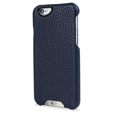 vaja grip iphone 6s 6 premium leather case crown blue true blue