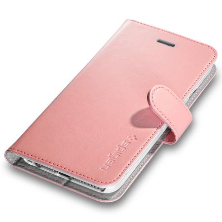 spigen iphone 6s plus wallet s case rose gold mobilezap australia. Black Bedroom Furniture Sets. Home Design Ideas