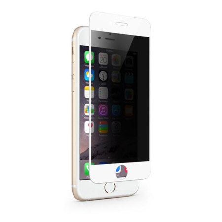 zmax pro's moshi ivisor iphone 6s/6 privacy glass screen protector white 1 unibody