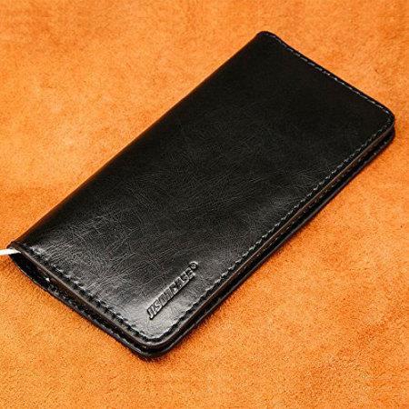 jison case genuine leather universal smartphone wallet case black few