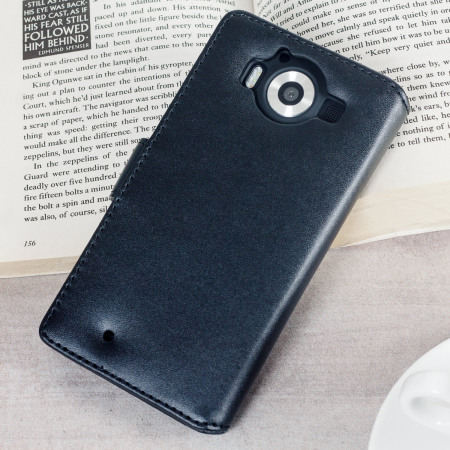 smartphone will olixar genuine leather microsoft lumia 950 wallet case black husband will